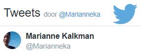 Marianne Kalkman op Twitter